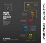 vector infographic vertical... | Shutterstock .eps vector #1028015998