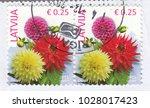 latvia circa 2015 a stamp... | Shutterstock . vector #1028017423