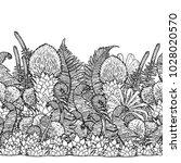 graphic prehistoric plants... | Shutterstock .eps vector #1028020570