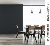long black dining room table... | Shutterstock . vector #1028025448