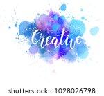 be creative hand lettering... | Shutterstock .eps vector #1028026798