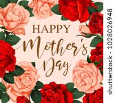 happy mothers day greeting card ... | Shutterstock .eps vector #1028026948
