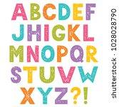 cartoon vector alphabet ... | Shutterstock .eps vector #1028028790
