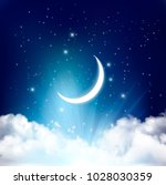 night sky background with with... | Shutterstock .eps vector #1028030359