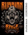 russian rage vector art. print... | Shutterstock .eps vector #1028030860