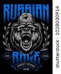 russian rage vector art. print... | Shutterstock .eps vector #1028030914
