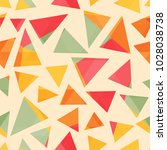 colored triangle seamless...   Shutterstock .eps vector #1028038738