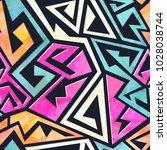 grunge geometric seamless...   Shutterstock .eps vector #1028038744