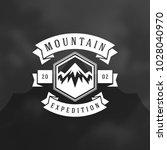 mountains logo emblem vector...   Shutterstock .eps vector #1028040970