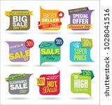 modern sale stickers and tags... | Shutterstock .eps vector #1028041516