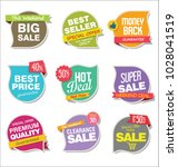 modern sale stickers and tags... | Shutterstock .eps vector #1028041519