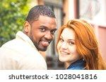 portrait of multiethnic man and ...   Shutterstock . vector #1028041816