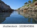 porto limonias bay on zakynthos ... | Shutterstock . vector #1028045806