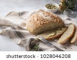 homemade whole grain bread and... | Shutterstock . vector #1028046208