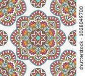 seamless pattern with mandala.... | Shutterstock .eps vector #1028049700