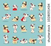 vector illustration set of cute ... | Shutterstock .eps vector #1028051434