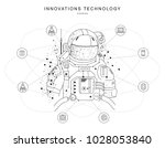 future technologies in cosmos... | Shutterstock .eps vector #1028053840
