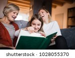 a small girl with mother and... | Shutterstock . vector #1028055370