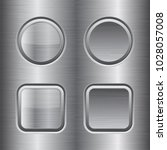 square and round buttons. metal ...