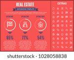 real estate infographic... | Shutterstock .eps vector #1028058838