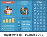 shopping infographic template ... | Shutterstock .eps vector #1028059096