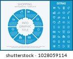 shopping infographic template ... | Shutterstock .eps vector #1028059114