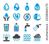 water icon set | Shutterstock .eps vector #1028060170