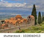 monastery buildings in the...   Shutterstock . vector #1028060413