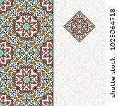 invitation card with mandala.... | Shutterstock .eps vector #1028064718