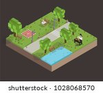 illustration set of pixelated... | Shutterstock . vector #1028068570
