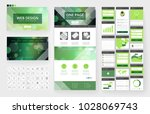 website template  one page... | Shutterstock .eps vector #1028069743