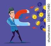 successful businessman mining... | Shutterstock .eps vector #1028071480