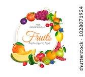 fruits banner. vector design... | Shutterstock .eps vector #1028071924