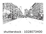 downtown of west side new york... | Shutterstock .eps vector #1028073400