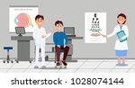 two doctors examining patient... | Shutterstock .eps vector #1028074144