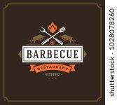 grill restaurant logo vector...   Shutterstock .eps vector #1028078260