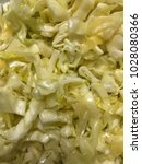 salad chopped cabbage | Shutterstock . vector #1028080366