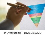 male hand pointing with a pen... | Shutterstock . vector #1028081320