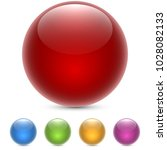 Red Glossy Sphere Isolated On...