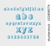 blue creative modern 3d... | Shutterstock .eps vector #102808574