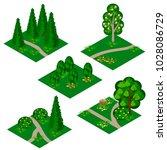 landscape isometric tile set....   Shutterstock .eps vector #1028086729