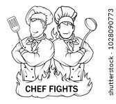 chef in uniform. cook logo.... | Shutterstock .eps vector #1028090773