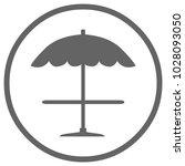 beach umbrella icon in circle....   Shutterstock .eps vector #1028093050