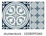 vintage tiles patterns antique... | Shutterstock .eps vector #1028095360