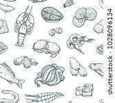 seamless vector pattern of sea...   Shutterstock .eps vector #1028096134