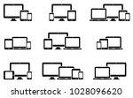 responsive web design icons for ...   Shutterstock .eps vector #1028096620