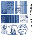 fabulous vintage style nautical ... | Shutterstock .eps vector #102809864