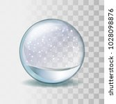 snow globe with falling... | Shutterstock .eps vector #1028098876
