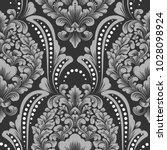 vector damask seamless pattern... | Shutterstock .eps vector #1028098924