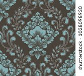 vector damask seamless pattern... | Shutterstock .eps vector #1028098930